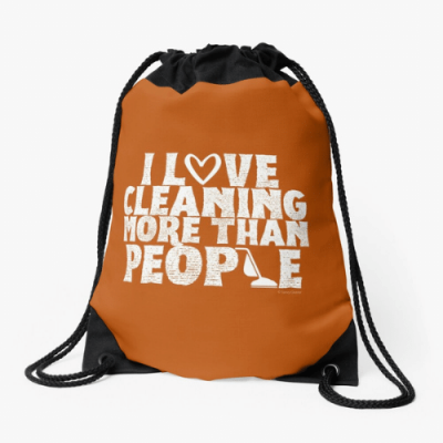 More Than People Savvy Cleaner Funny Cleaning Gifts Drawstring Bag