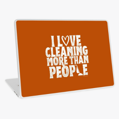 More Than People Savvy Cleaner Funny Cleaning Gifts Laptop Skin