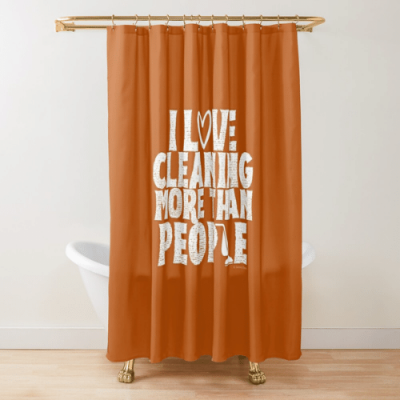 More Than People Savvy Cleaner Funny Cleaning Gifts Shower Curtain