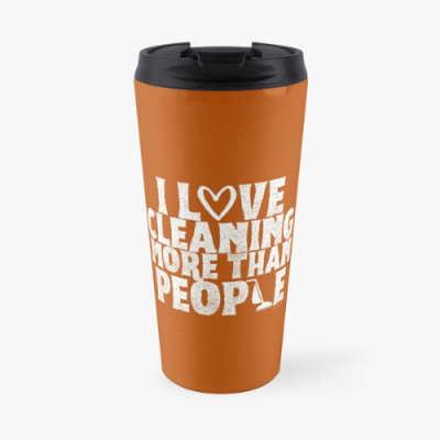 More Than People Savvy Cleaner Funny Cleaning Gifts Travel Mug