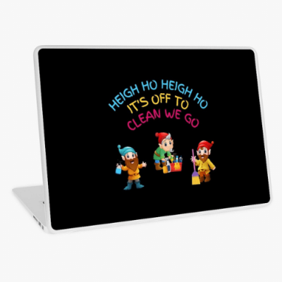 Off To Clean We Go Savvy Cleaner Funny Cleaning Gifts Laptop Skin
