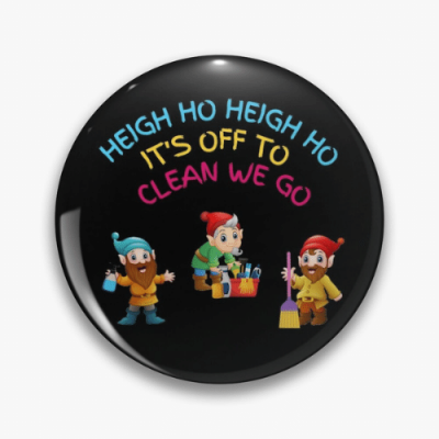 Off To Clean We Go Savvy Cleaner Funny Cleaning Gifts Pin