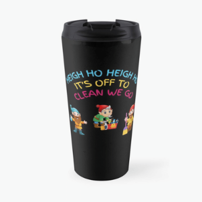 Off To Clean We Go Savvy Cleaner Funny Cleaning Gifts Travel Mug