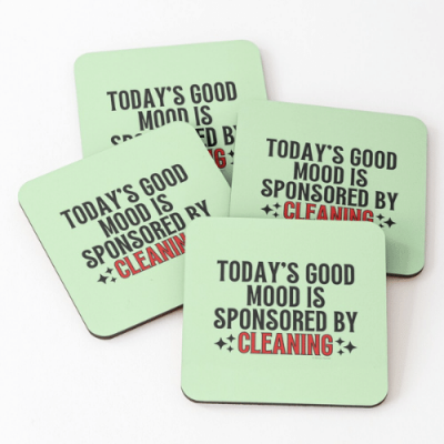 Sponsored by Cleaning Savvy Cleaner Funny Cleaning Gifts Coasters