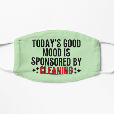 Sponsored by Cleaning Savvy Cleaner Funny Cleaning Gifts Flat Mask