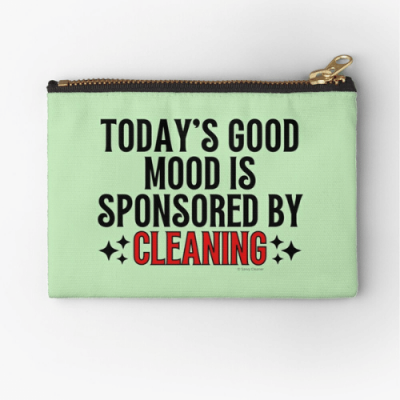 Sponsored by Cleaning Savvy Cleaner Funny Cleaning Gifts Zipper Pouch