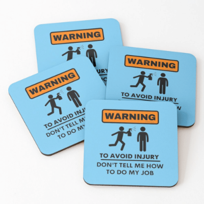 To Avoid Injury Savvy Cleaner Funny Cleaning Gifts Coasters