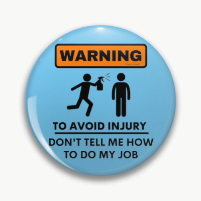 To Avoid Injury Savvy Cleaner Funny Cleaning Gifts Pin
