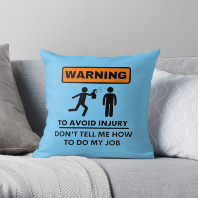 To Avoid Injury Savvy Cleaner Funny Cleaning Gifts Throw Pillow