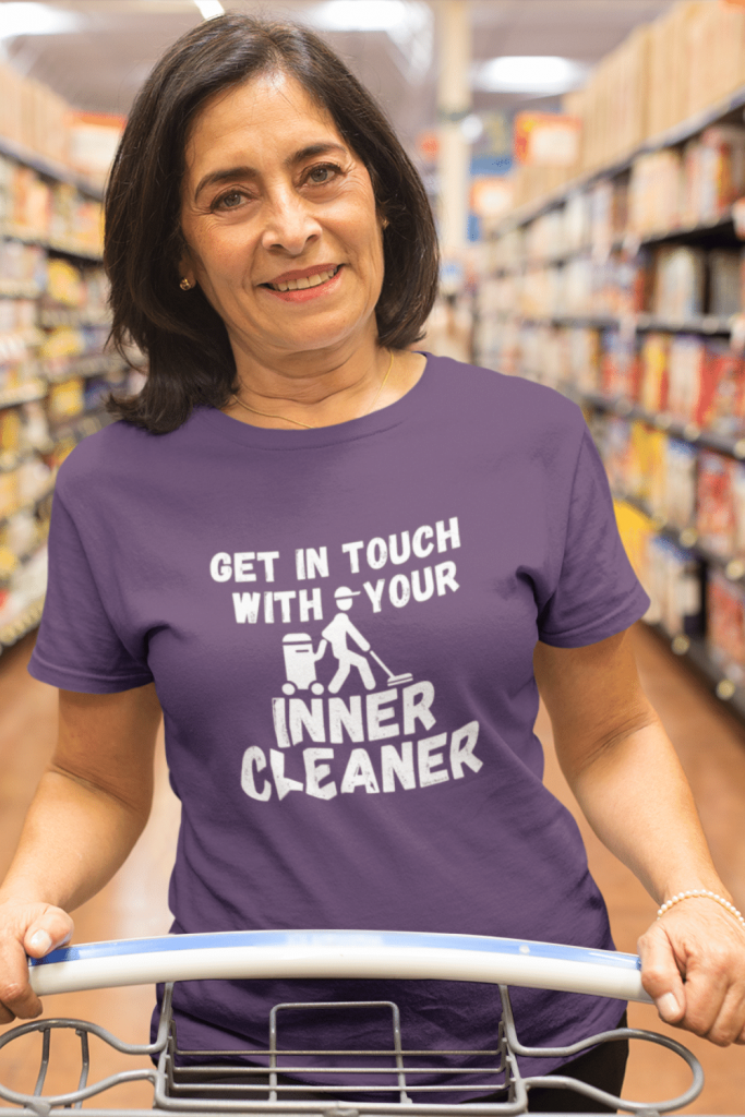 Inner Cleaner Savvy Cleaner Funny Cleaning Shirts Women's Standard T-Shirt