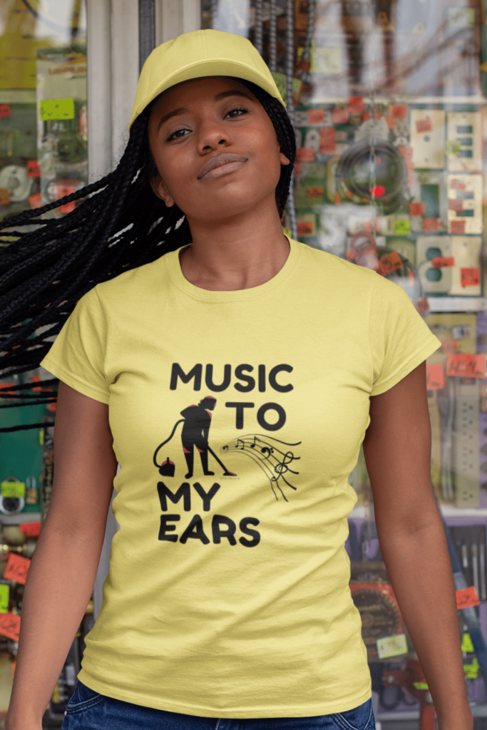 Music to My Ears Savvy Cleaner Funny Cleaning Shirts Standard T-Shirt