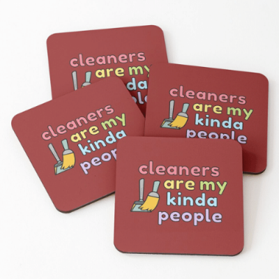 My Kind of People Savvy Cleaner Funny Cleaning Gifts Coasters
