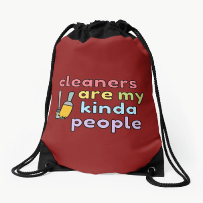 My Kind of People Savvy Cleaner Funny Cleaning Gifts Drawstring Bag