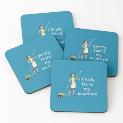 My Soulmate Savvy Cleaner Funny Cleaning Gifts Coasters