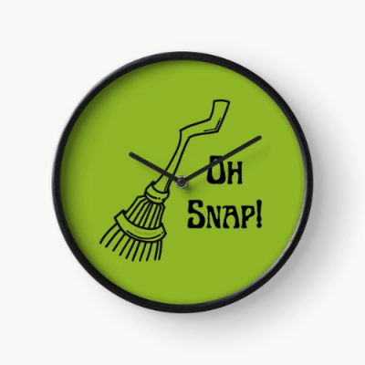 Oh Snap Savvy Cleaner Funny Cleaning Gifts Clock