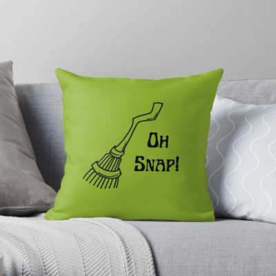 Oh Snap Savvy Cleaner Funny Cleaning Gifts Throw Pillow