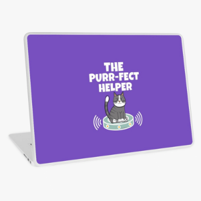 Purr-fect Helper Savvy Cleaner Funny Cleaning Gifts Laptop Skin