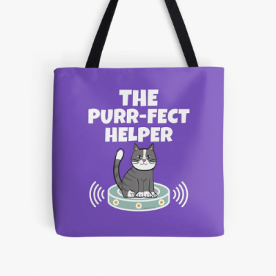 Purr-fect Helper Savvy Cleaner Funny Cleaning Gifts Print Tote