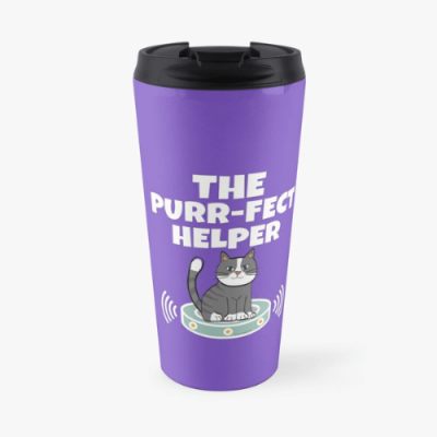 Purr-fect Helper Savvy Cleaner Funny Cleaning Gifts Travel Mug