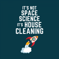 Space Science Savvy Cleaner Funny Cleaning Shirts Enlarge B