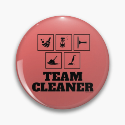 Team Cleaner Savvy Cleaner Funny Cleaning Gifts Pin