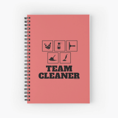 Team Cleaner Savvy Cleaner Funny Cleaning Gifts Spiral Notebook