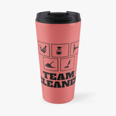 Team Cleaner Savvy Cleaner Funny Cleaning Gifts Travel Mug