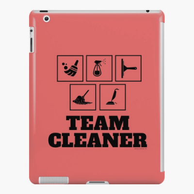 Team Cleaner Savvy Cleaner Funny Cleaning Gifts iPad Snap Case
