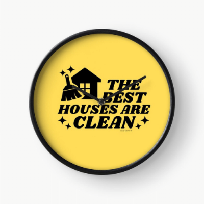 The Best Houses Savvy Cleaner Funny Cleaning Gifts Clock