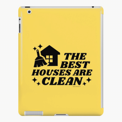 The Best Houses Savvy Cleaner Funny Cleaning Gifts iPad Snap Case