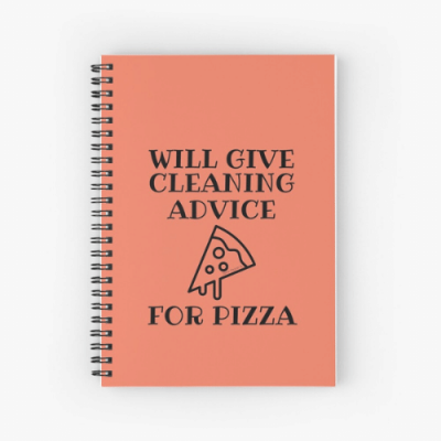 Will Give Cleaning Advice Savvy Cleaner Funny Cleaning Gifts Spiral Notebook