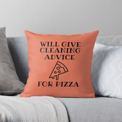 Will Give Cleaning Advice Savvy Cleaner Funny Cleaning Gifts Throw Pillow