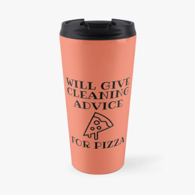 Will Give Cleaning Advice Savvy Cleaner Funny Cleaning Gifts Travel Mug