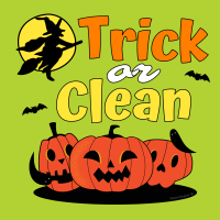 540 Trick or Clean Savvy Cleaner Funny Cleaning Shirts B