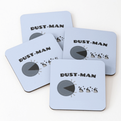 Dust Man Savvy Cleaner Funny Cleaning Gifts Coasters