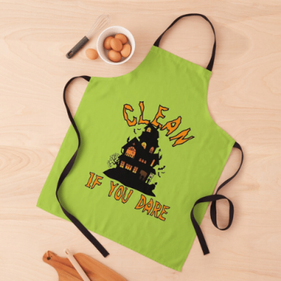 If You Dare Savvy Cleaner Funny Cleaning Gifts Apron