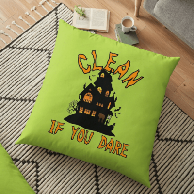 If You Dare Savvy Cleaner Funny Cleaning Gifts Floor Pillow