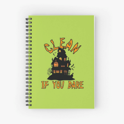 If You Dare Savvy Cleaner Funny Cleaning Gifts Spiral Notebook