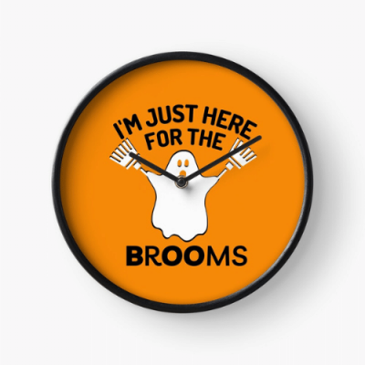 Just Here for the Brooms Savvy Cleaner Funny Cleaning Gifts Clock