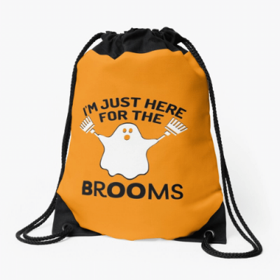 Just Here for the Brooms Savvy Cleaner Funny Cleaning Gifts Drawstring Bag