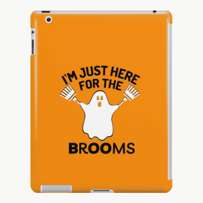 Just Here for the Brooms Savvy Cleaner Funny Cleaning Gifts iPad Snap Case