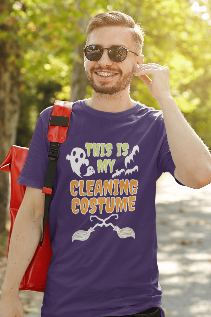 My Cleaning Costume Savvy Cleaner Funny Cleaning Shirts Men's Standard T-Shirt