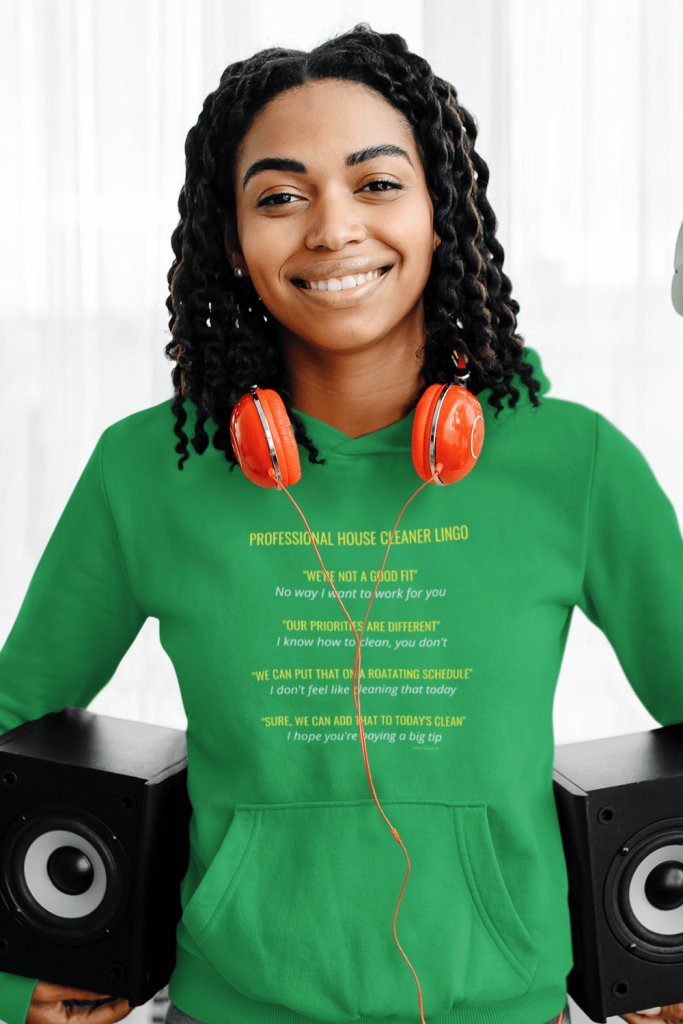 Professional House Cleaner Lingo Savvy Cleaner Funny Cleaning Shirts Classic Pullover Hoodie