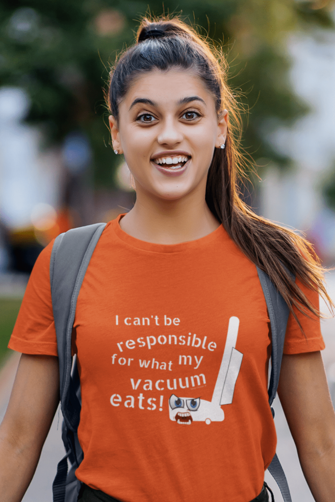 What My Vacuum Eats Savvy Cleaner Funny Cleaning Shirts Women's Standard Tee