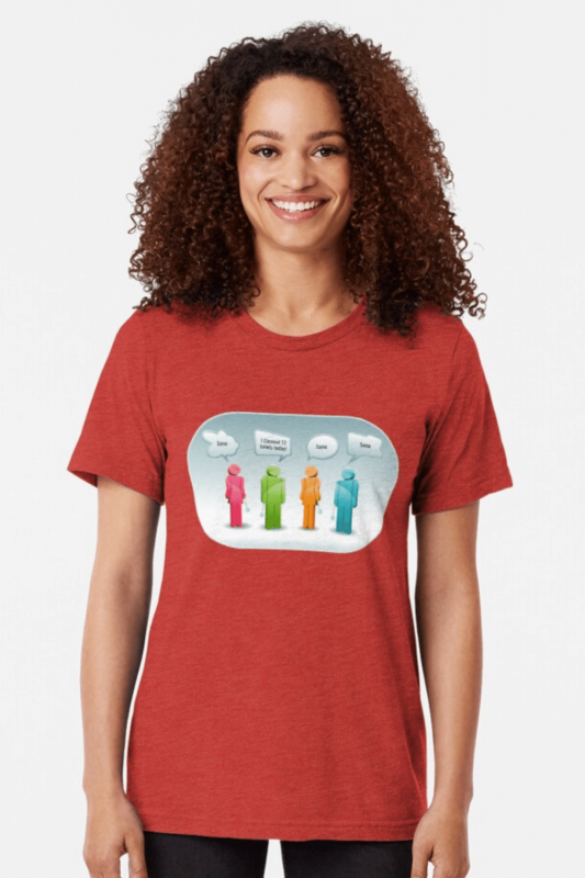 12 Toilets Savvy Cleaner Funny Cleaning Shirts Triblend Tee