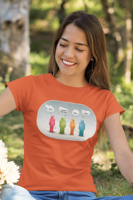12 Toilets Savvy Cleaner Funny Cleaning Shirts Women's Standard T-Shirt