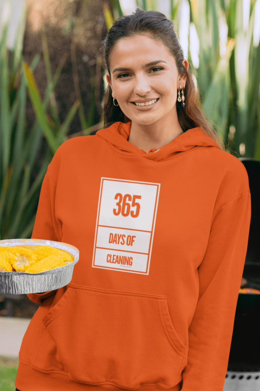 365 Days of Cleaning Savvy Cleaner Funny Cleaning Shirts Classic Pullover Hoodie
