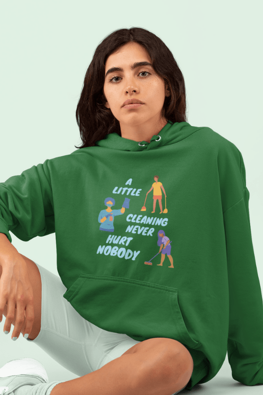A Little Cleaning, Savvy Cleaner Funny Cleaning Shirts, Classic Pullover Hoodie