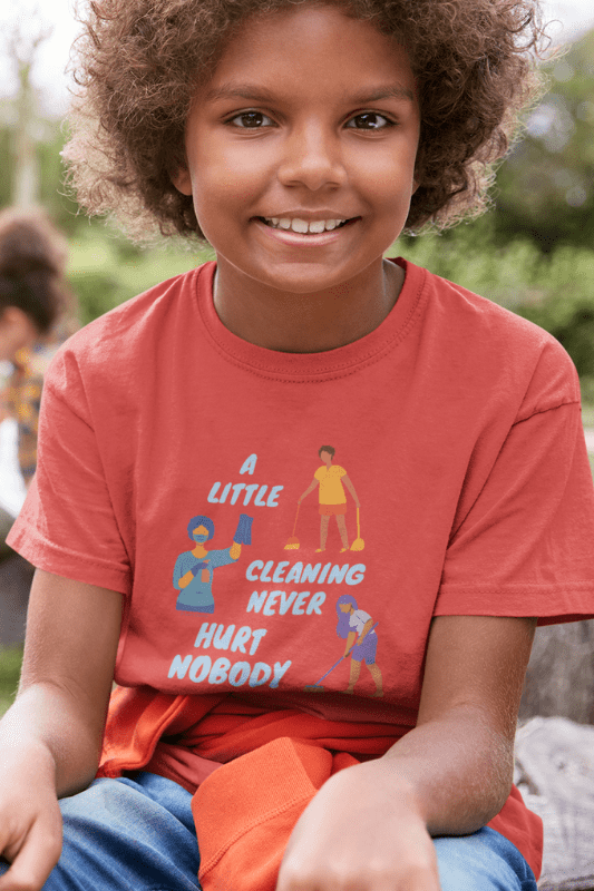 A Little Cleaning, Savvy Cleaner Funny Cleaning Shirts, Kids Premium T-Shirt