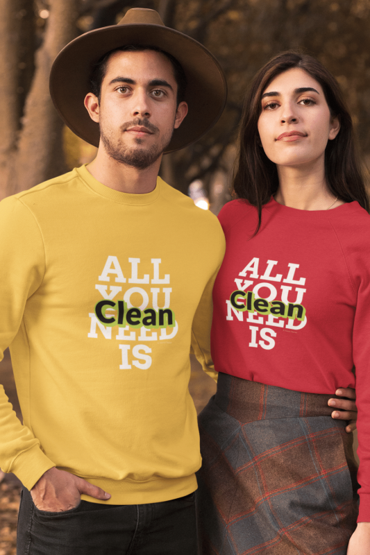 All You Need is Clean Savvy Cleaner Funny Cleaning Shirts Long Sleeve Tee